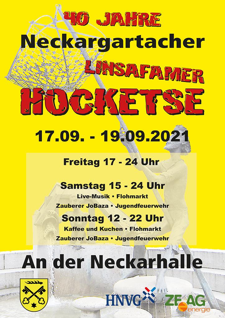 Plakat 40 Jahre Neckargartacher Linsafarmer Hocketse